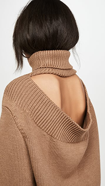 Monse 垂褶领外翻式毛衣