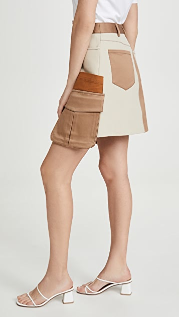 Monse 多色贴袋迷你裙