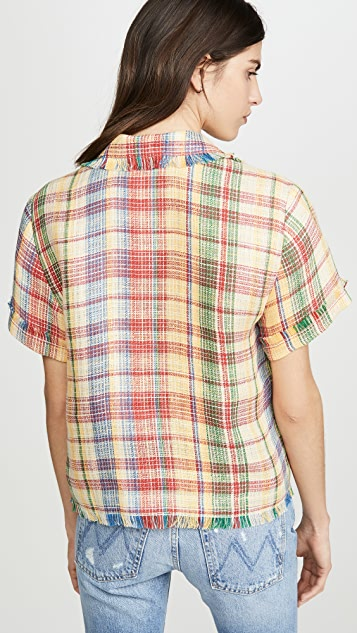 Monse Basket Weave Havana Shirt