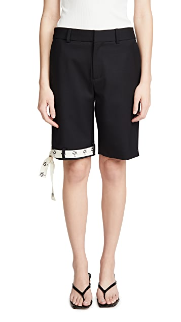 Monse Upside Down Ribbon Hem Shorts