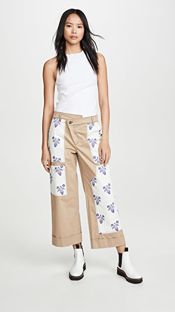Monse Flower Pot Patch Pants