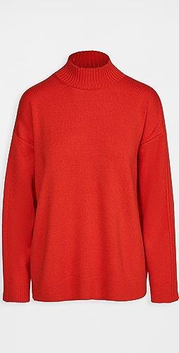 Monse - 罗纹垂褶背针织毛衣