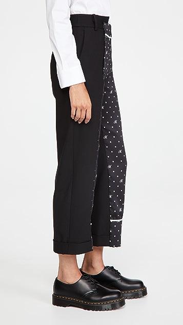 Monse M Dot Contrast Trousers