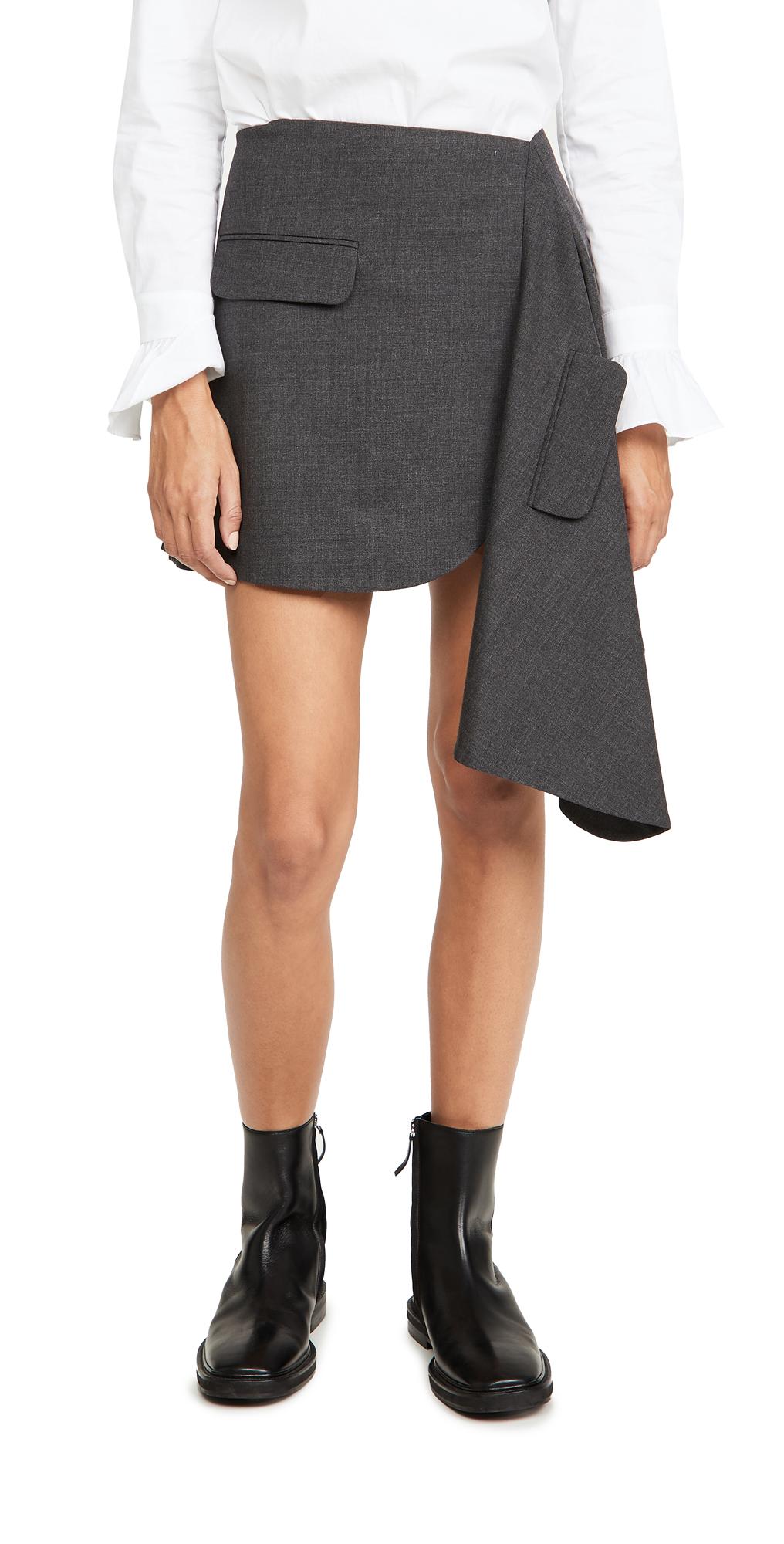Monse Cascade Suiting Miniskirt