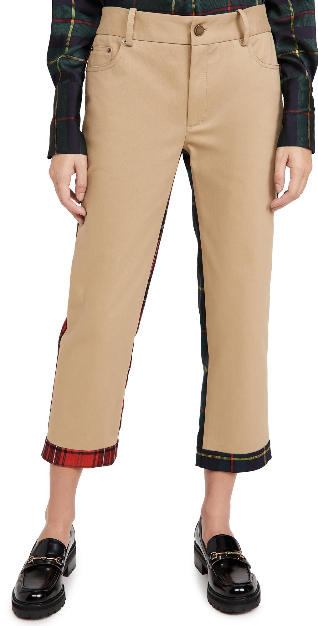 Monse Plaid Half And Half Pants