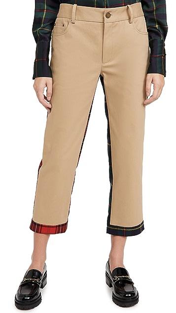 Monse Half And Half 格子图案长裤