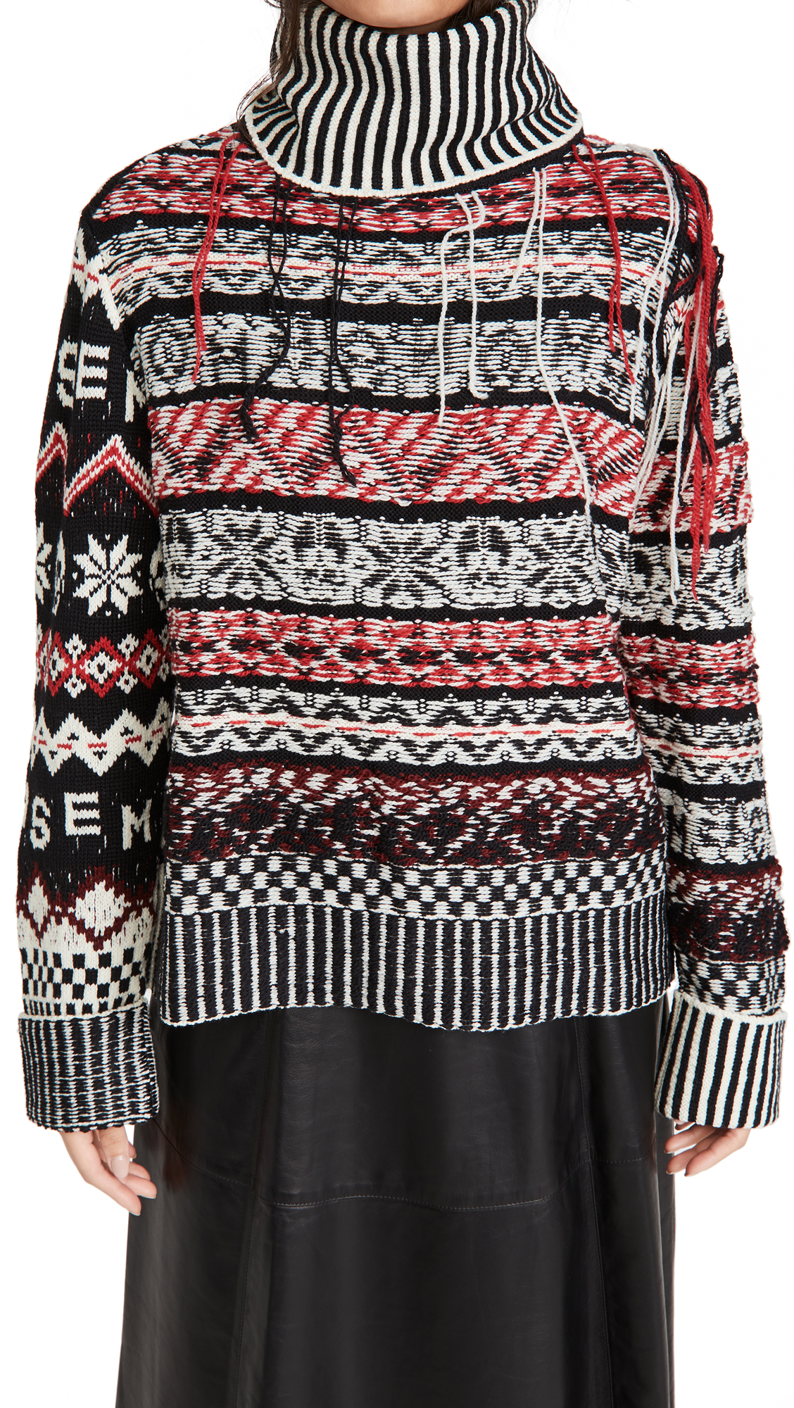 Monse Inside Out Fair Isle Sweater