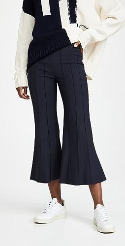 Monse - 细褶中长喇叭裤
