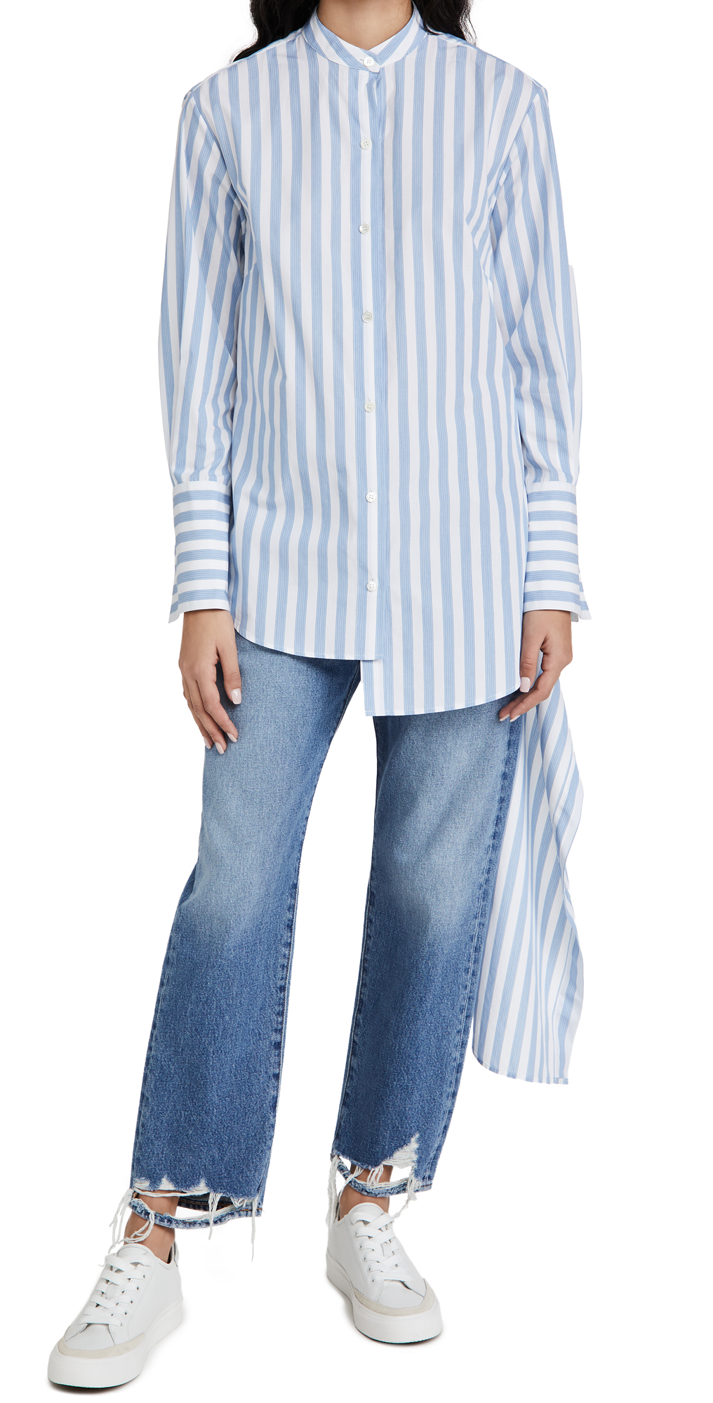 Monse Striped Drawstring Shirt