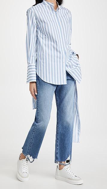 Monse 条纹抽绳衬衫
