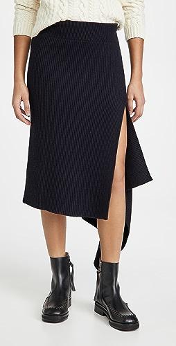 Monse - Sliced Ribbed Knit Skirt