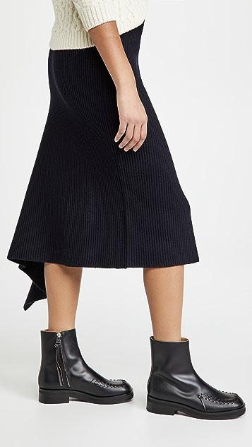 Monse Sliced Ribbed Knit Skirt