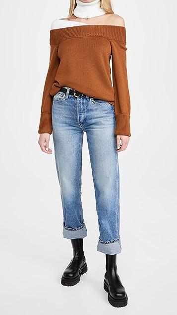 Monse Off The Shoulder Turtleneck Sweater