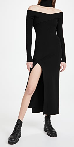 Monse - Off Shoulder Turtleneck Arch Dress