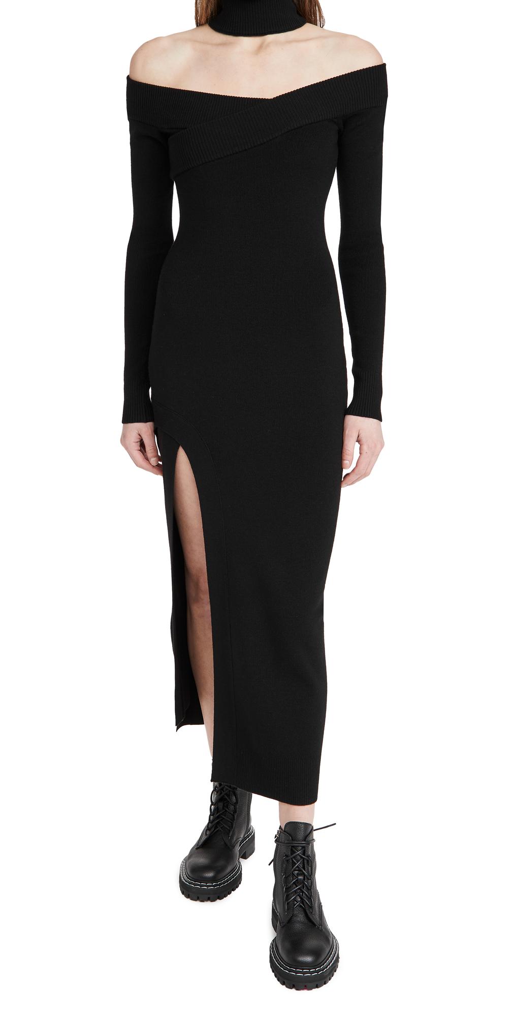 Monse Off Shoulder Turtleneck Arch Dress