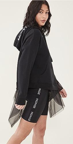 Monse - 解构主义薄纱连帽上衣