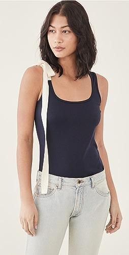 Monse - 斜纹织物绑带 T 恤