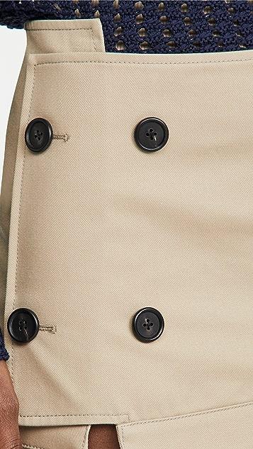 Monse Upside Down Trench Collar Skirt