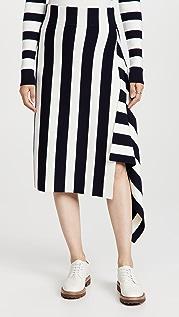 Monse Striped Knit Skirt