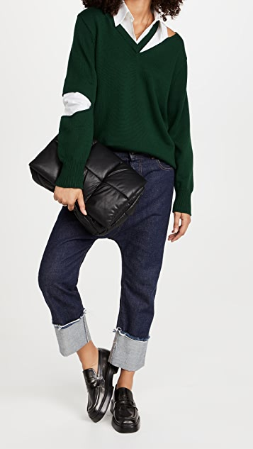 Monse Slashed Knit And Shirt Pullover