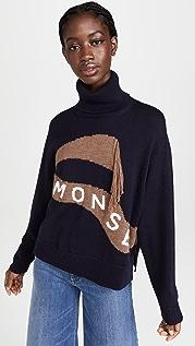 Monse Scarf Intarsia Turtleneck Sweater