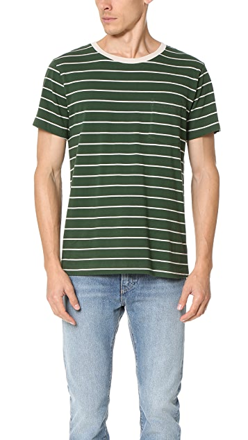 Mollusk Striped Pocket Tee