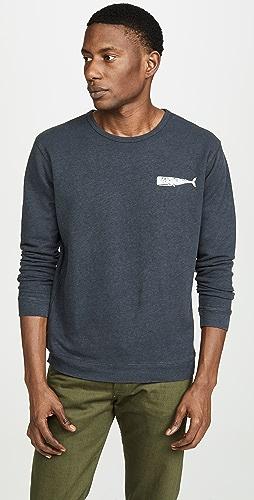 Mollusk - Olde Whale Crew Neck Sweatshirt