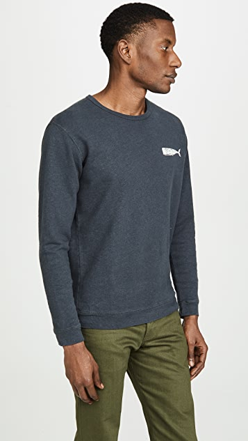 Mollusk Olde Whale Crew Neck Sweatshirt