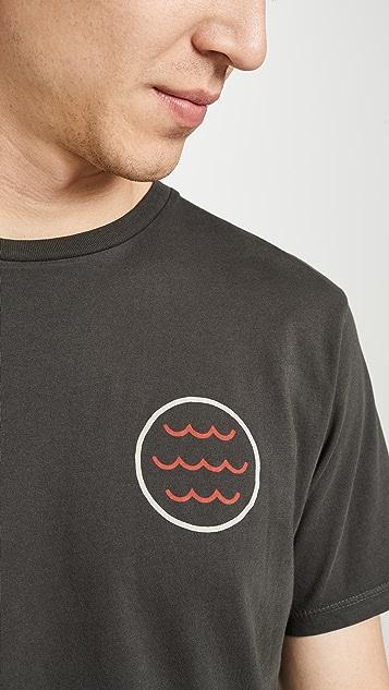 Mollusk Short Sleeve Red Tide Print Tee