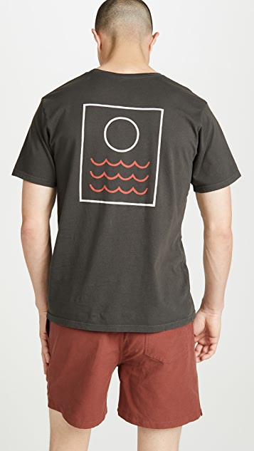Mollusk Short Sleeve Red Tide Print Tee