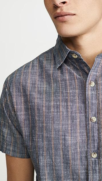 Mollusk Striped Short Sleeve Summer Shirt