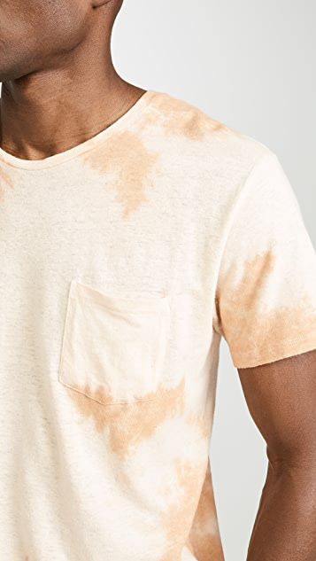 Mollusk Short Sleeve Hemp Tie Dye Pocket Tee