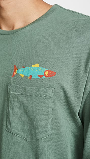 Mollusk Hot Salmon Long Sleeve Tee