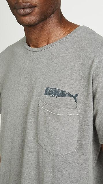 Mollusk Short Sleeve Hemp Olde Whale Tee