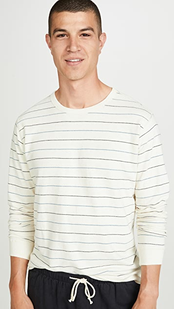 Mollusk Long Sleeve Hemp Crew Neck Sweatshirt