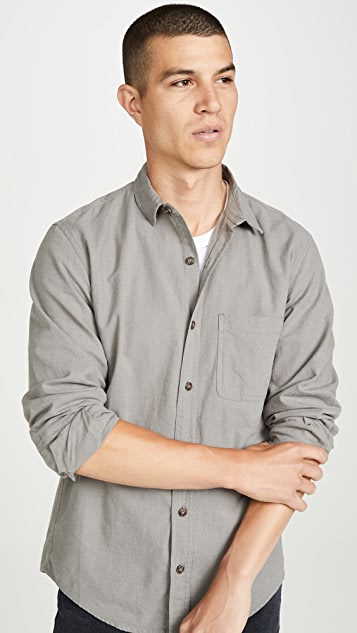 Mollusk Long Sleeve One Pocket Shirt
