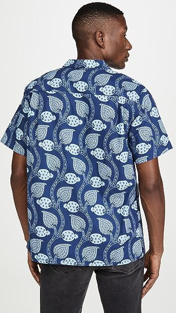 Mollusk Aloha Paisley Pods Short Sleeve Shirt