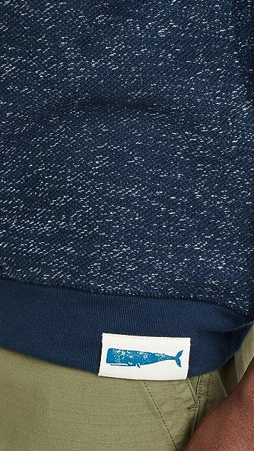 Mollusk Whale Patch Crew Neck Sweatshirt