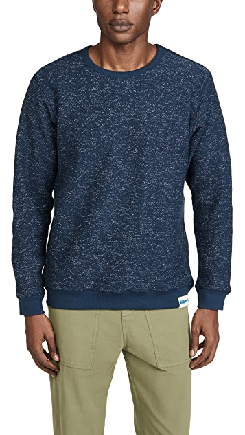 Mollusk Whale Patch Crew Neck Sweatshirt