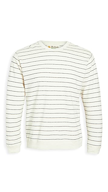 Mollusk Stripe Hemp Crew Neck Sweatshirt
