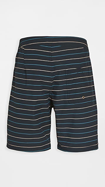 Mollusk Stretch Notched Swim Trunks