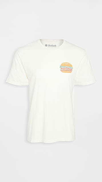 Mollusk Cheeseburger Logo T-Shirt