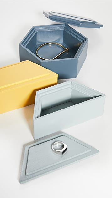 MoMA Honeycomb Stacking Jewelry Boxes
