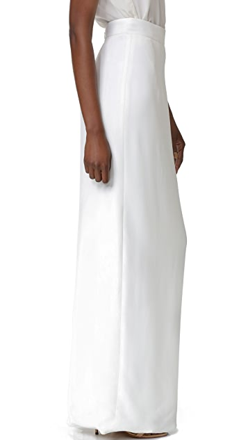 Monique Lhuillier Long Column Skirt