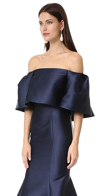 Monique Lhuillier Off Shoulder Gown