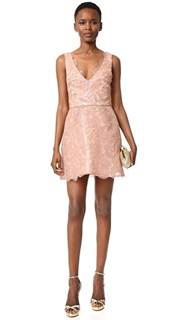 Monique Lhuillier Sleeveless Structured Dress