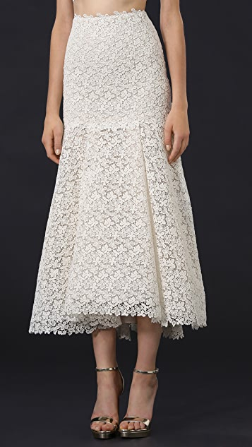 Monique Lhuillier Delia Lace Skirt