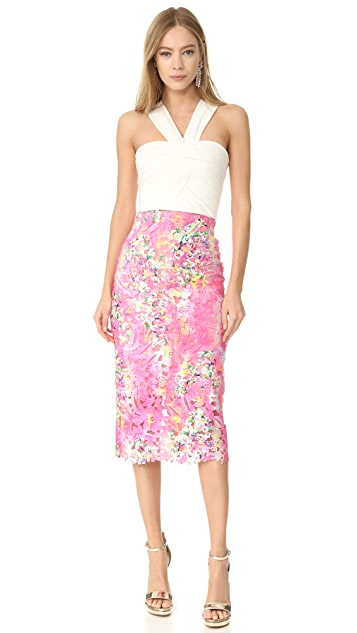 Monique Lhuillier Lace Pencil Skirt