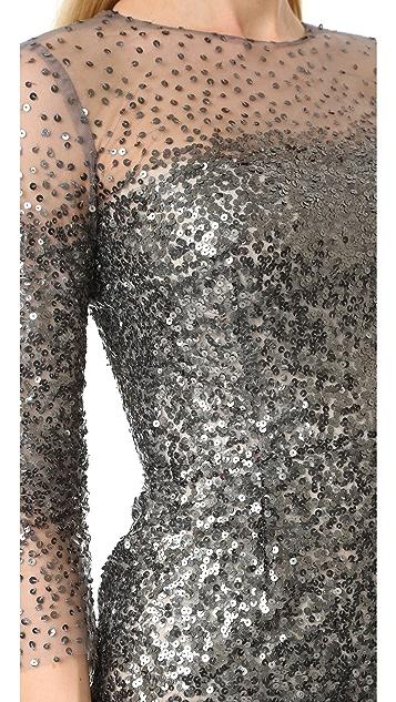 Monique Lhuillier Illusion Dress
