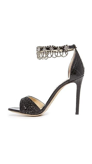 Monique Lhuillier Evelyn Ankle Strap Sandals